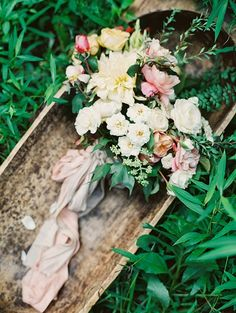 Wild Garden Bouquet | Michael and Carina Photography | Modern Anne of Green Gables Wedding Inspiration in Blush and Spring Green