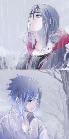 Itachi y Sasuke - by 十, [pixiv]