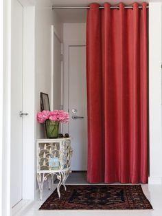 Tringle rideau de porte ib pour rideaux illets d 20 for Tringle de porte d entree