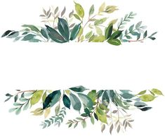 frames and borders Comentrios Watercolor Leaves, Watercolor Art, Wallpaper Backgrounds, Iphone Wallpaper, Wallpapers, Theme Noel, Banner Vector, Vector Clipart, Floral Border