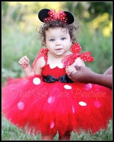 Red Minnie Mouse Tutu Dress, Birthday, Costume by Kelbelle
