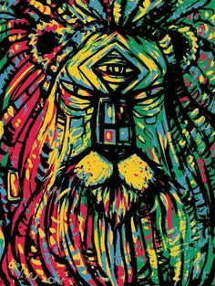 Rastafarian Zion Lion by Brian Barnard Jamaican Restaurant, Rasta Man, Reggae, Lion, Culture, Cool Stuff, Random, World, Painting