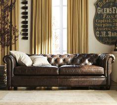 Paisley Curtain: Chesterfield Sofas