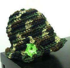 Baby Camo Crochet Hat