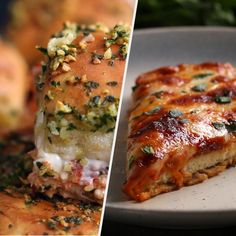 Cheese and chicken, the perfect combination? Here are 5 cheesy chicken parmesan recipes for some ooey gooey goodness. Shop the NEW Tasty Mer. Italian Dishes, Italian Recipes, Great Recipes, Food Network Recipes, Cooking Recipes, Cheesy Chicken, Crispy Chicken, Stuffed Chicken, Tasty