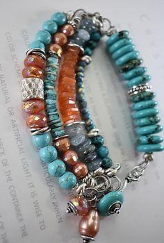 bracelet turquoise bracelet fluorite bracelet carnelian
