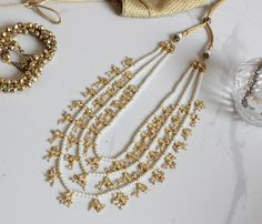 hyderabadi necklace , layered string, nizami jewellery , muslim bridal jewellery