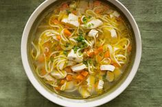 Chicken, vegetable and noodle soup - This chicken and vegetable soup can be whipped up in no time with pre-pared chicken stock made earlier. Chicken Vegetable Noodle Soup, Veggie Noodles, Chicken And Vegetables, Noodle Soups, Pasta Noodles, High Protein Vegetarian Recipes, Tofu Recipes, Good Healthy Recipes, Delicious Recipes