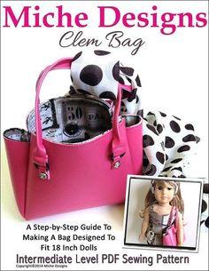 Clem Bag 18 inch Doll Accessories PDF Pattern Download | Pixie Faire