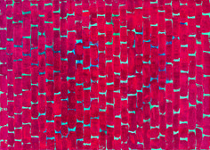 Alma Thomas, Deep Red Roses Chant, 1972. Image courtesy of Michael Rosenfeld Gallery, New York, and the Frances Young Tang Museum.