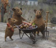 Country Mice - miniature OOAK artist toys by Natasha Fadeeva (stuffed animals) | eBay