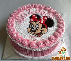 Mini Mouse Birthday Cake, 2 Year Old Birthday Cake, Baby Girl Birthday Cake, Hello Kitty Birthday Cake, Birthday Wishes Cake, Cupcake Birthday Cake, Cupcake Cakes, Bolo Minnie, Mickey Mouse Cake