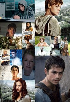 the maze runner characters: aris, newt, winston, harriet, minho, gally, chuck, alby, ben, frypan, ratman, sonya, thomas, teresa, brenda, and ava.