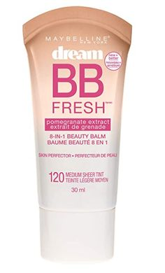 DREAM FRESH BB CREAM: Daily 8-in-1 BB skin perfector brightens, smoothes, hydrates, & protects with broad-spectrum SPF 30. Gives skin a dewy finish. LIGHT COVERAGE FOUNDATION + SKINCARE BENEFITS = BB CREAM: BB Cream adjusts to skin tone, minimizes & blurs the look of pores, & reduces the appearance of redness. BEST FACE FORWARD: Maybelline has sheer, medium, & full coverage foundation in liquid, stick, & cushion foundation formulas, & a range of concealers, face primers, contour, highlighter