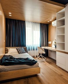 Modern Bedroom Ideas - Seeking the best bedroom decor ideas? Utilize these gorgeous modern bedroom ideas as motivation for your own wonderful designing plan . Room Design Bedroom, Small Room Bedroom, Home Room Design, Home Decor Bedroom, Bedroom Ideas, Small Bedroom Interior, Modern Interior, Bedroom Themes, Master Bedrooms
