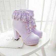 Botas de tacon lila