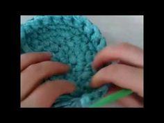 DIY Crochet Round Basket with Cotton Rope 3 | Penye ipten Yuvarlak Sepet Yapımı 3 - YouTube
