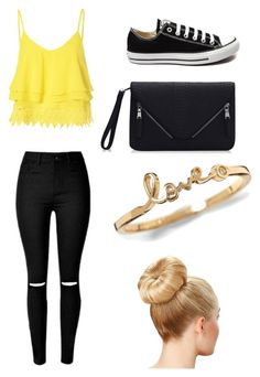 """Casual"" by mitchieanne21 on Polyvore featuring beauty, Glamorous and Converse"