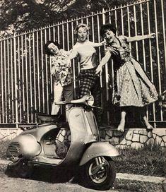 Italian Vintage Photographs ~ #Italy #Italian #vintage #photographs ~ Vespa, 1958 #vespa #1950s