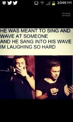 LMAO ONLY HARRY WOULD DO THAT