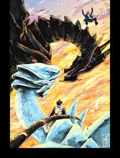 Yu-Gi-Oh!, Yu-Gi-Oh! Duel Monsters, Kaiba Seto, Red-Eyes Black Dragon, Blue-Eyes White Dragon, Jounouchi Katsuya