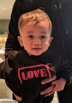 John Legend posts adorable pic of son Miles modelling 'Love' hoodie