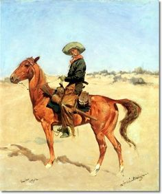 Frederic Remington Western Painting...