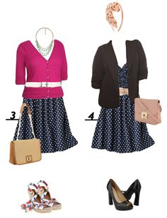 DIY FATSHION: reader request - how to wear a polkadot dress (dressy outfit ideas)