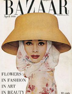 - Harper´s Bazaar Magazine cover Audrey Hepburn by Richard Avedon / April 1956 1958 hats Audrey Hepburn Hut, Audrey Hepburn Photos, Richard Avedon, Fashion Magazine Cover, Fashion Cover, Magazine Covers, Harper's Magazine, Magazine Design, Vogue Covers