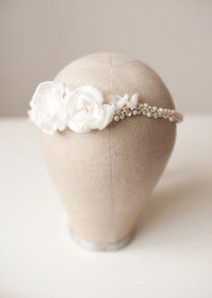 Bridal silk flower blossom halo  Floral crownFlower by TheWeddie, €150.00