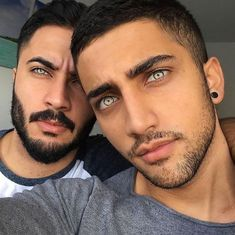 It seems you can see the whole world in these men's eyes. They are brothers wh… It seems you can see the whole world in these men's eyes. They are brothers who got their exquisite features from their father and (Page of results Most Beautiful Faces, Stunning Eyes, Beautiful People, Amazing Eyes, Stunningly Beautiful, Pretty Eyes, Cool Eyes, Hommes Sexy, Fine Men