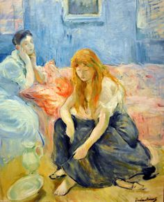 "Poster ""Two Girls"" von Berthe Morisot, Kunstdruck Big Box Art Größe: 42 cm x cm Pierre Auguste Renoir, Edouard Manet, Pierre Bonnard, Camille Pissarro, Edgar Degas, Post Impressionism, Impressionist Art, Berthe Morisot, Paul Cézanne"