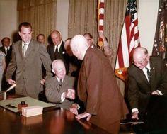 signing the Alaska Statehood Act