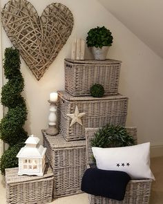 Grey wash wicker trunks now in stock....