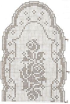 schemi copertine neonato uncinetto filet - Cerca con Google
