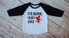 valentines day, baby boy, toddler boy, valentines shirt, hipster, shirt, raglan, baseball tee, outfit, valentines baby, trendy, v-day, boy by Our5loves on Etsy