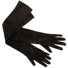 Black Basic Satin Gloves ($8.90) ❤ liked on Polyvore featuring accessories, gloves, black and satin gloves