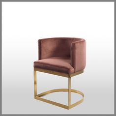 MILANI OCCASIONAL CHAIR IN BLUSH VELVET