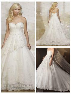 Strapless Semi Sweetheart Lace Ball Gown Wedding Dresses http://www.ckdress.com/strapless-semi-sweetheart-lace-ball-gown-wedding-dresses-p-497.html  #wedding #dresses #dress #lightindream #lightindreaming #wed #clothing #gown #weddingdresses #dressesonline #dressonline #bride