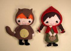 SalePDF ePattern2 Fairy Tale Felt Plushies by RepeatingPatterns, $9,99