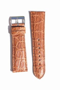 22mm Made in Italy Toscana Handmade Matte Tan Genuine Crocodile Watchband with S/S Buckle $39.95 (save $85.05)