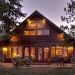 Reeled into the Rustic: Rural home located next to a lake, has classic styling with overtones of homey design