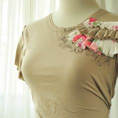 diy ruffled and stamped t-shirt tutorial