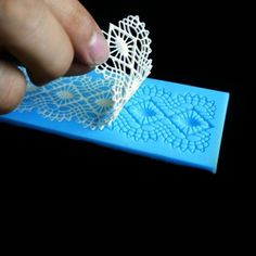 Plantilla de silicona para encajes de lacitos. Para fondant / Template silicone lace bows. for fondant