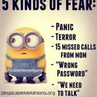 This exactly explains how to describe fear