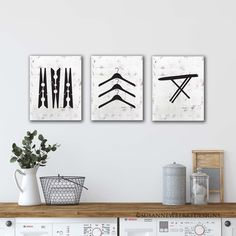 Excited to share the latest addition to my #etsy shop: Laundry Room Art Trio - Ironing Board - Hangers - Clothes Pins - Set of three PRINTS- Laundry Room Decor - Laundry Wall Art - Laundry Decor Laundry Room Art, Laundry Decor, Hangers, Clothes Hanger, Ironing Board Hanger, Bed Wall, Personalized Wedding Gifts, Canvas Wall Art, Gallery Wall