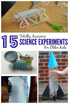 15 Awesome Science Experiments For OLDER Kids! #scienceexperiment #kids #kidsactivities