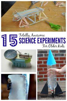 15 Experimentos de Ciencia para Niños Mayores