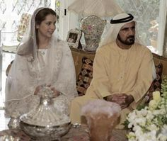 Sheikh Mohammed bin Rashid Al Maktoum of Dubai and Princess Haya bint Al Hussein of Jordan April 10, 2004