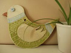 Love this k - 2 clay lesson. Folk art birds!